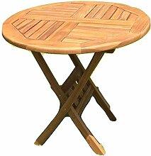 Gartentisch Holz Teak rund Ø 80 cm