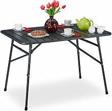 Gartentisch klappbar, Terrassentisch Metall, HBT