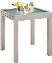GARTENTISCH Metall, Glas Silberfarben