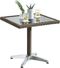 GARTENTISCH Metall, Kunststoff, Glas Grau, Schwarz