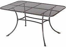 Gartentisch mit Lochmuster Metall Breite 145 cm Pharao24