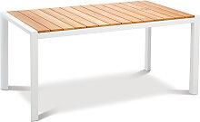 Gartentisch - Paros 160x90cm - Weiß