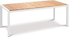 Gartentisch - Paros 210x90 cm - Weiß