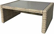 Gartentisch Polyrattan beige/braun Balkontisch