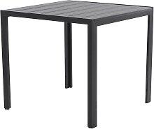 Gartentisch Polywood Esstisch Aluminium 70x70 cm