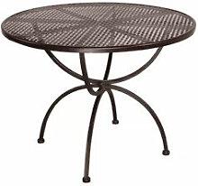 Gartentisch rund - handgeschmiedet aus Eisen und