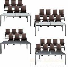 Gartentisch-Set Alu WPC 190x90 6/8 Stühle