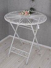 Gartentisch Shabby Chic Garten Tisch Eisen Weiss