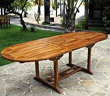 Gartentisch Teak für 10Personen–Tisch oval