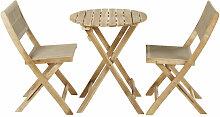 Gartentisch und 2 Stühle aus massivem Akazienholz