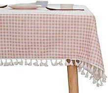 Gartentischdecke Abwaschbar,Leinenoptik Tischtuch