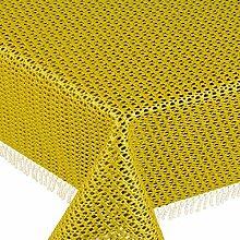 Gartentischdecke Classic KC Oval 140x180 cm Gelb / Dunkelgelb UNI Einfarbig