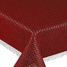 Gartentischdecke Classic KC Oval 140x180 cm Rot / Dunkelrot UNI Einfarbig · Form , Farbe & Größe wählbar