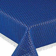 Gartentischdecke Classic KC Rund 160 cm Blau /