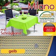 Gartentischdecke MILANO 130 x 160 cm eckig, gelb