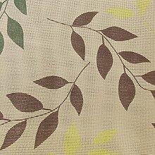 Gartentischdecke Premium KC Rund 160 cm Blätter Grün Braun