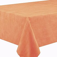 Gartentischdecke SABRINA Eckig 130 x 160 cm Orange / Terrakotta - Lotus Effek