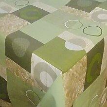 GartenTischdecke Wachstuch Puro Grün kariert ·