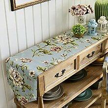 Gartentische tischläufer/rechteckiger tee-tisch,tv schrank tischläufer/schuh counter tuch,strip fabric table flag-F 30x150cm(12x59inch)