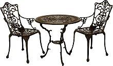 Gartentischgruppe im Vintage Look Bronzefarben