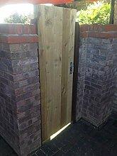 Gartentor aus Holz, robust, vollständig gerahmt,