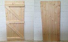 Gartentor / Brettertür, aus Holz, Nut-Feder-Verbindung, robust und langlebig, Maßarbeit, verstreb