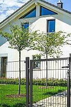 Gartentor für Stabmatte anthrazit (RAL 7016) einflügelig (100)