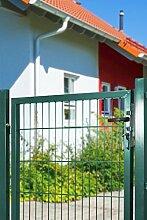 Gartentor für Stabmatte grün (RAL 6005) einflügelig (Höhe 100 cm)