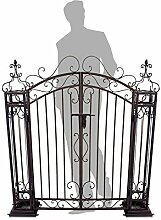Gartentor Gartentür Eingangstor Pforte Metalltor Antik-Optik im schmiedeeisernen Design