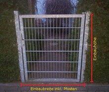 Gartentor Hoftor / Verzinkt / Tor-Einbau-Breite: 125 cm - Tor-Einbau-Höhe: 123 cm - Inklusive 2 Pfosten (60mm x 60mm) / Mattentor