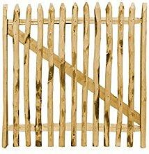 Gartentor Kastanie Breite: 100cm - Verschiedene Höhen - 100 x 150 cm