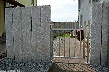 Gartentor Komplett-Set Company Edelstahl Rechteck inkl. Pfosten Türgriff
