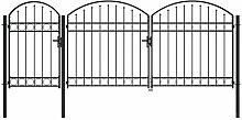 Gartentor mit Gewölbter Spitze Stahl 2 x 4 m