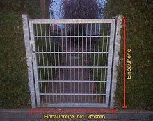 Gartentor Pforte verzinkt Hoftor Einfahrtstor Tür Tor Törchen 125cm x 123cm