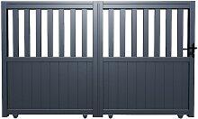 Gartentor Schiebetor TARNOS - Aluminium - B400 x