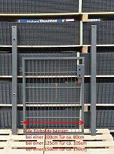 Gartentor / Zauntür Anthrazit Breite 125cm x