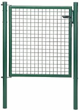 Gartentor zinkph.grün 100 X 100 cm verst.Band