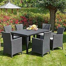 Gartentraum 6er Sitzecke mit Sessel & Schirmloch