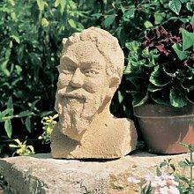 Gartentraum Antike Deko Steinbüste - Rolande, Ocker