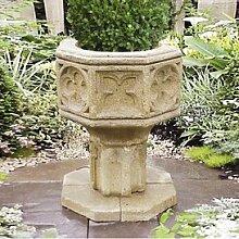 Gartentraum Antikes Steinguss Garten Pflanzgefäß - Clichy, Ocker