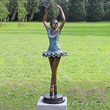 Gartentraum Ballerina Bronze Figur für den Garten