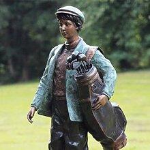 Gartentraum Bronze Skulptur mit Golfspieler -