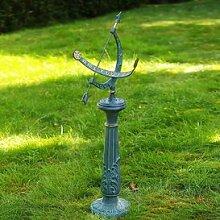 Gartentraum Bronze Sonnenuhr mit Säule - Florenz, Bronze