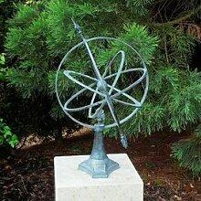 Gartentraum Bronze Sonnenuhr mit Sockel -