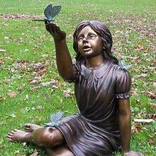 Gartentraum Bronze Statue - Mädchen mit