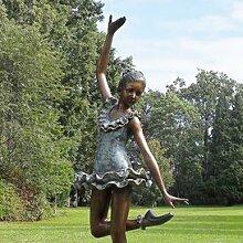 Gartentraum Edle Bronze Gartenskulptur mit Ballerina - Jade, Bronze