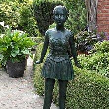 Gartentraum Edle Garten Bronze Figur mit Mädchen
