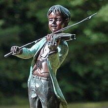 Gartentraum Garten Bronzestatue mit Geigenspieler - Edmond, Bronze