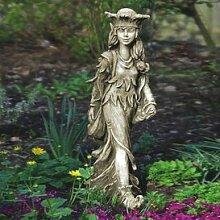 Gartentraum Garten Elfenfigur aus Steinguss - Vaisey, Antikgrau