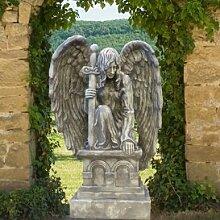 Gartentraum Garten Engelskulptur aus Steinguss - Grabriel, Antikgrau